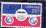 Stamps United States -  AVION