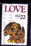 Stamps United States -  LOVE-DIBUJO INFANTIL