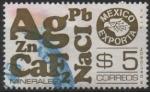 Sellos de America - México -  MÉXICO  EXPORTA  MINERALES