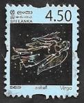 sello : Asia : Sri_Lanka : Virgo, signo del Zodiaco