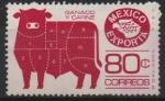 Stamps Mexico -  MÉXICO  EXPORTA  GANADO  Y  CARNE
