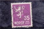 Sellos del Mundo : Europa : Noruega : LEON RAMPANTE