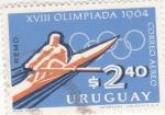 Sellos de America - Uruguay -  OLIMPIADA-64 REMO