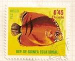 Stamps Equatorial Guinea -  Pez disco