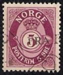 Stamps Norway -  Corona y trompa de correos