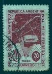 Sellos de America - Argentina -  1er Correo antartico
