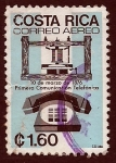 Stamps Costa Rica -  1era Comonicacion telefonica