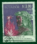 Stamps Ecuador -  7 Centenario Nacimiento de DANTE
