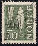 Sellos de Europa - Noruega -  El centeno y el pescado