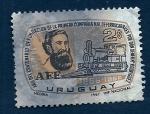 Sellos del Mundo : America : Uruguay : Centenario C.N.Ferrocaril