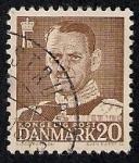 Sellos de Europa - Dinamarca -  Rey Frederik IX