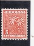 Sellos de Europa - Andorra -  FLORES-edelweiss