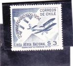 Sellos de America - Chile -  25 Aniversario lineas aereas