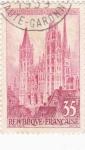 Stamps France -  catedral de Ruan