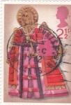 Stamps United Kingdom -  Angel músico
