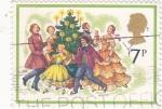 Stamps United Kingdom -  fiesta de Navidad