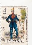 Stamps Spain -  Tambor Mayor de Infantería de Línea 1861 (27)