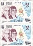 Sellos de Europa - España -  Bicentenario descubrimiento Wolframio (27)