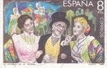 Stamps Spain -  La Verbena de la Paloma (27)