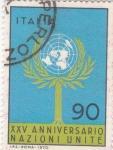 Sellos de Europa - Italia -  XXV Aniversario Naciones Unidas