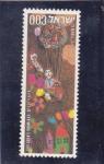 Stamps Israel -  dibujo infantil