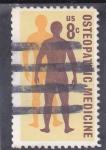 Stamps United States -  osteopatía-medicina