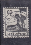 Stamps Switzerland -  herido de guerra