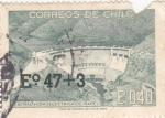 Stamps Chile -  central hidroelectrica de Rapel