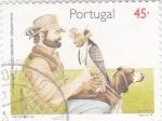 Stamps Portugal -  cetrería- alcón peregrino