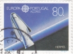 Sellos de Europa - Portugal -  EUROPA CEPT- satelite Hermes