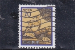 Stamps : Asia : Japan :  ilustración animales