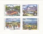 Stamps Chile -  ECOTURISMO EN PARQUES NACIONALES