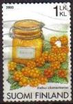 Stamps Finland -  FINLANDIA SUOMI FINLAND 2005 Scott 1240 Sello Serie Frutas Mora Boreal Usado