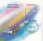 Stamps : Africa : Tanzania :  AVIONES DE COMBATE