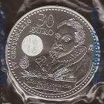 monedas del Mundo : Europa : España :  30 euros. IV Centenario Miguel de Cervantes. Felipe VI y Letizia. reverso