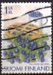 Stamps Finland -  FINLANDIA SUOMI FINLAND 2006 Sello Serie Frutas Arandanos Usado