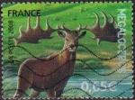 Sellos del Mundo : Europa : Francia : FRANCIA 2008 Sello Animales Prehistoricos Megaloceros, Alce Irlandes o Ciervo Gigante Usado