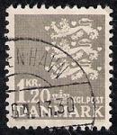Sellos de Europa - Dinamarca -  Leones del escudo de Dinamarca