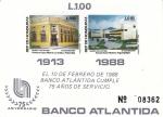Stamps : America : Honduras :  75 ANIVERSARIO BANCO ATLANTIDA