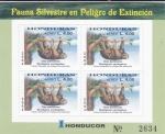 Stamps : America : Honduras :  FAUNA SILVESTRE EN PELIGRO DE EXTINCIÓN