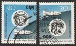 Sellos del Mundo : Europa : Alemania :  673 y 674 - 2º vuelo espacial en grupo, Valentina Terechkova y Valeri Bikovski