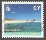 Sellos de Europa - Reino Unido -  Guernsey - Shell Beach Herm