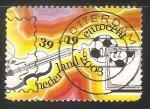 Stamps Netherlands -  Violin y football