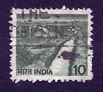 Sellos de Asia - India -  Canal de riego