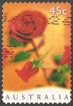 Sellos de Oceania - Australia -  Rosa