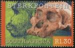 Sellos del Mundo : Africa : Sudáfrica : SUDÁFRICA: Sitio de homínidos fósiles de Sterkfontein, Swartkrans, Kromdraai y sus alrededores