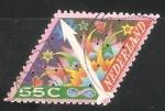 Stamps Netherlands -  Navidad fuegos artificiales