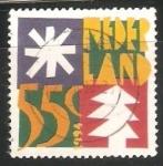 Stamps Europe - Netherlands -  navidad arboles y estrellas