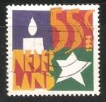 Stamps Netherlands -  Navidad estrellas y velas