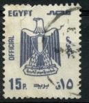 Sellos del Mundo : Africa : Egipto : EGIPTO_SCOTT 0108 ESCUDO DE EGIPTO. $0.35